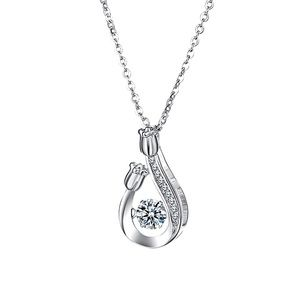 925 Sterling Silver Lucky Flower Necklace